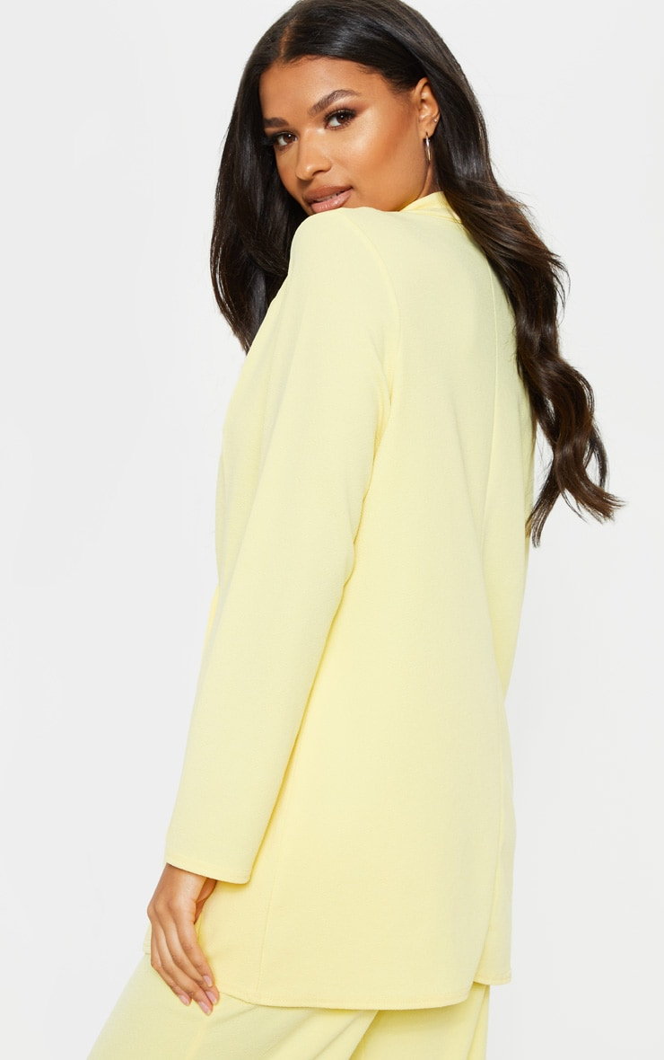 Lemon Oversized Boyfriend Blazer 2