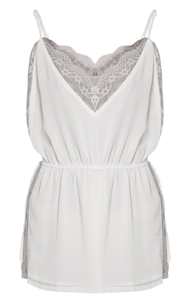 Shiela White Lace Insert Playsuit 3
