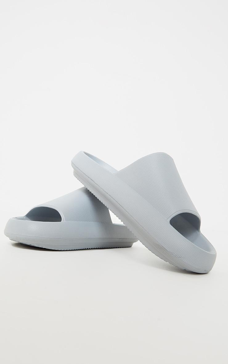 Baby Blue Flatform Sole Mule Rubber Sliders 4