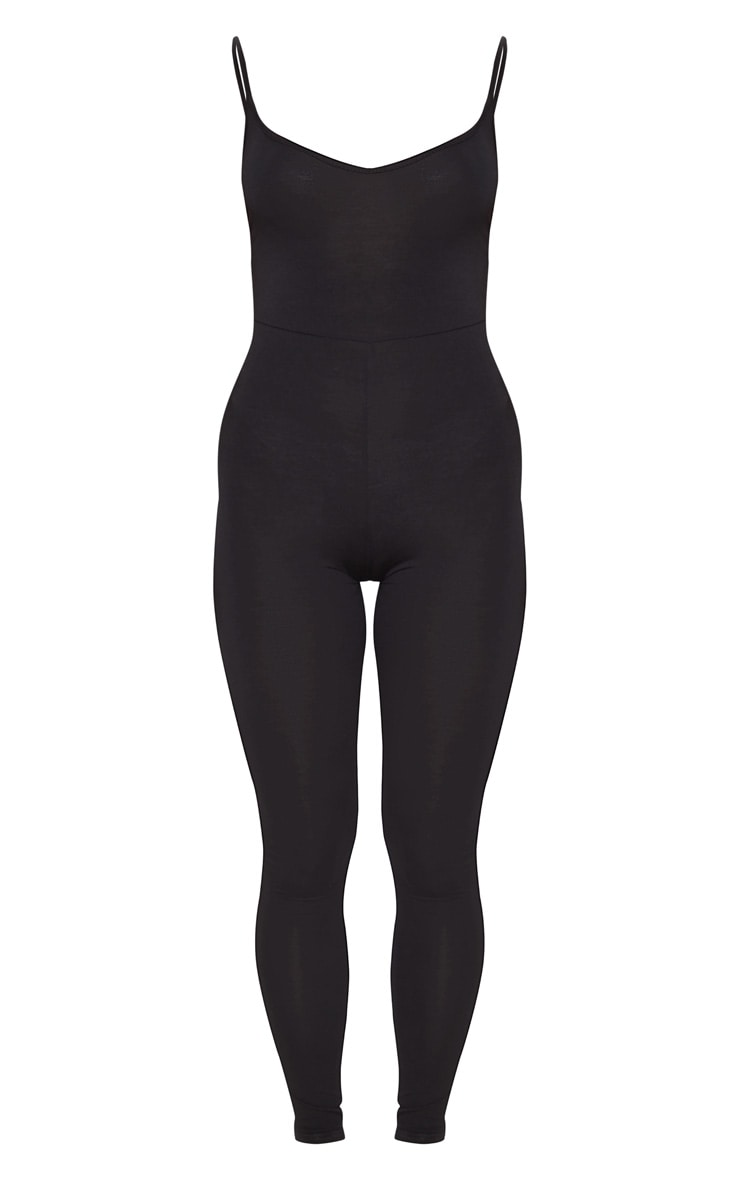 Khlara Black Jersey Low Back Jumpsuit 3