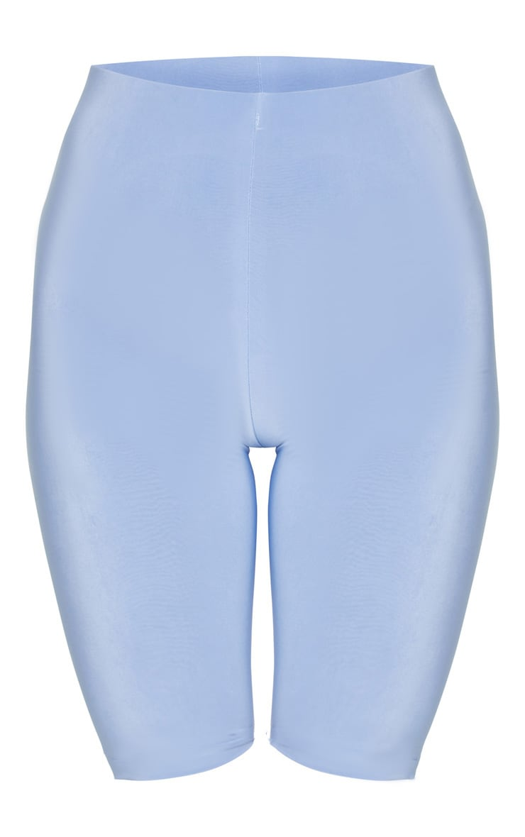 Pale Blue Slinky Longline Bike Short 1