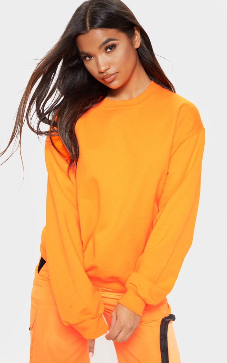 Orange Neon Ultimate Oversized Sweater 1