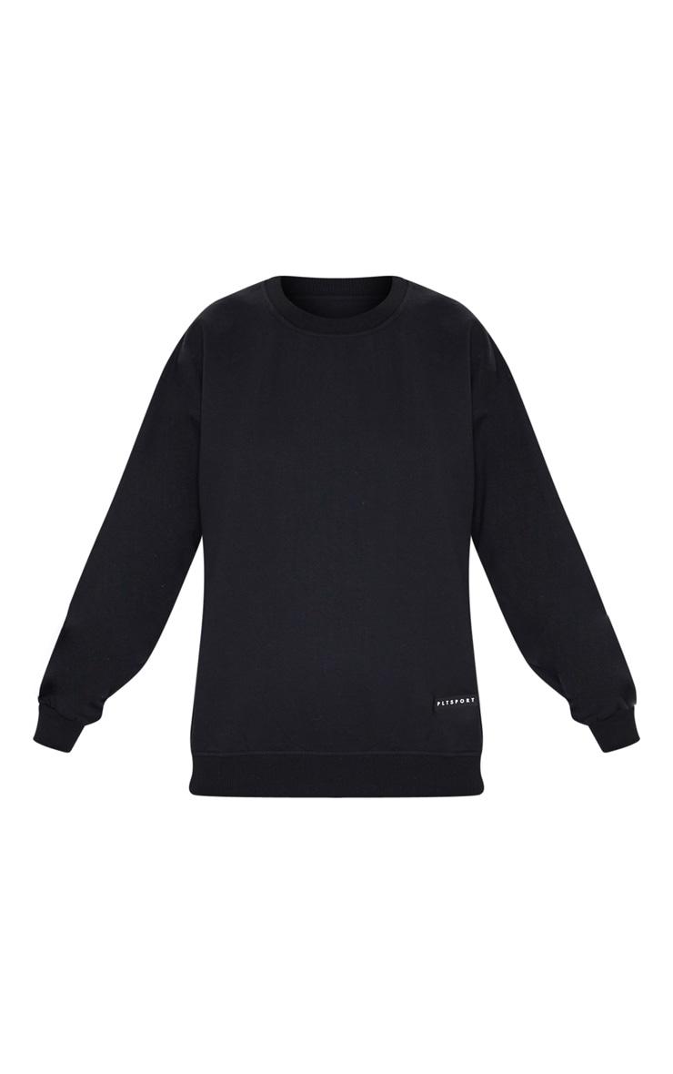 PRETTYLITTLETHING Black Badge Detail Sport Sweater 5