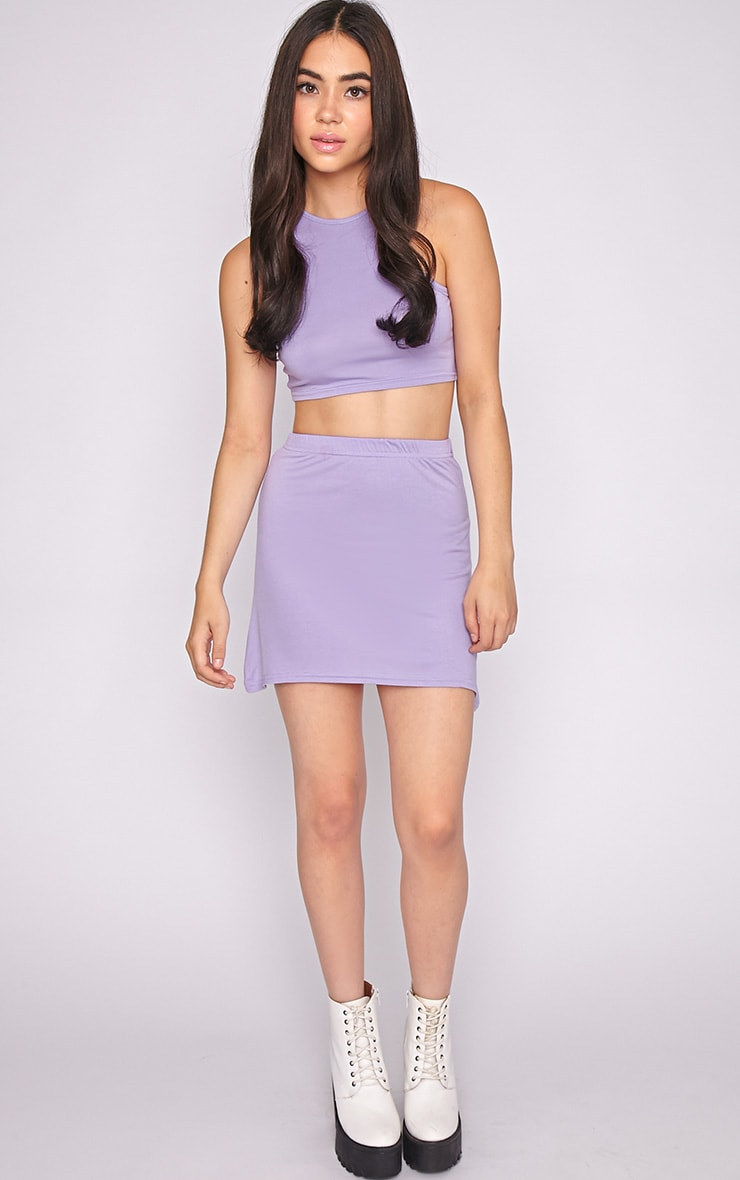 Madelyn Lilac Crop Top 3