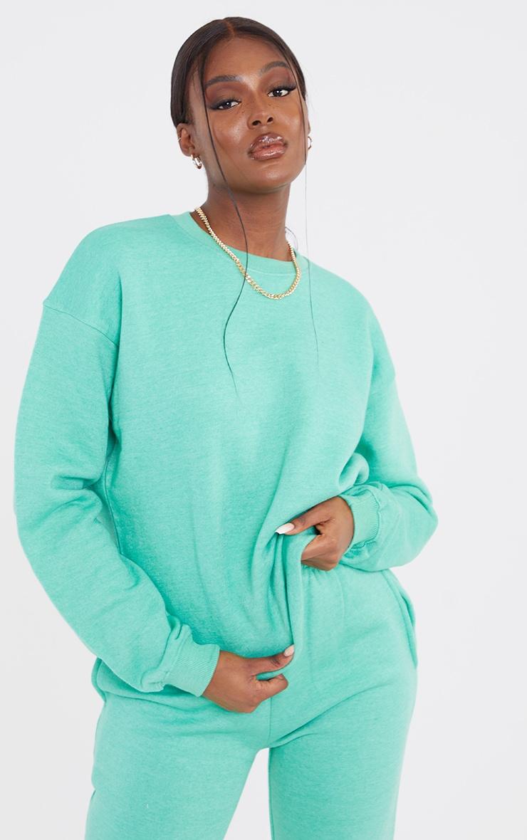 Tall Sage Green Ultimate Oversized Sweatshirt 2