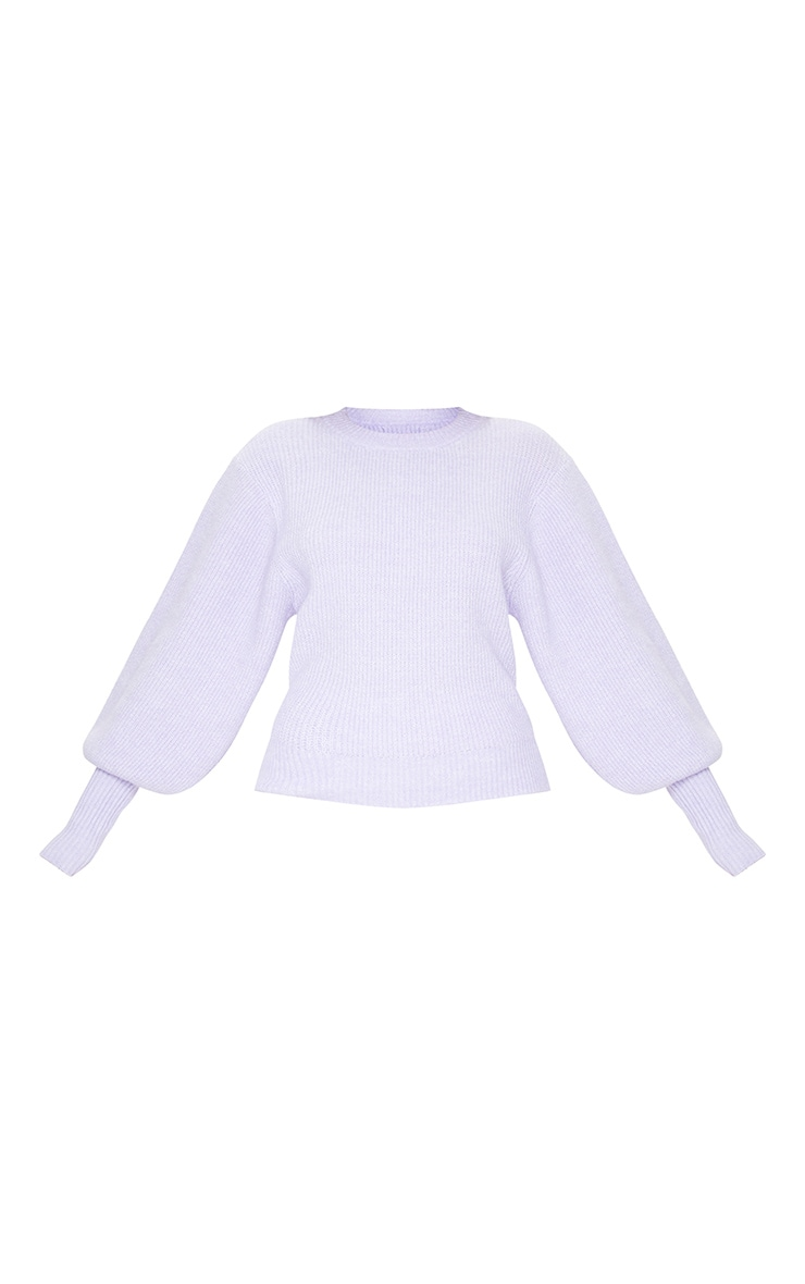 Lilac Extreme Balloon Sleeve Knitted Jumper 5