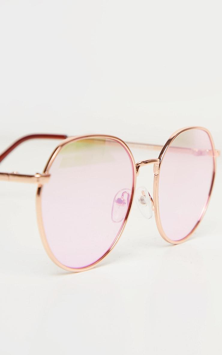 Pink Revo Round Sunglasses 4