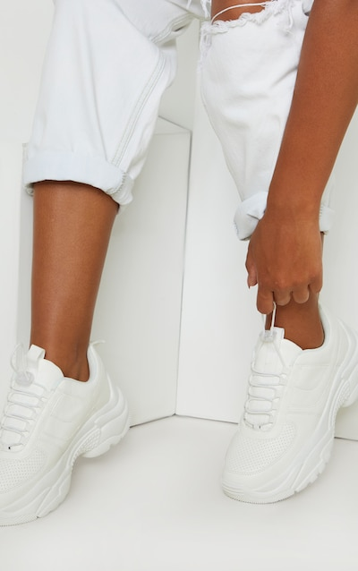 White High Arch Chunky Sole Trainer