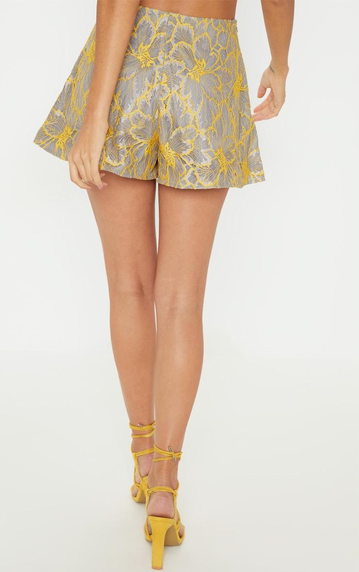 Grey Lace Floaty Shorts 4
