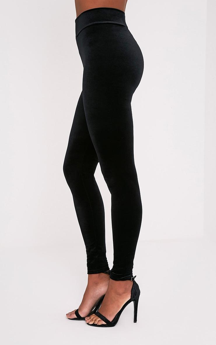 Eryn legging taille haute en velours noir 4