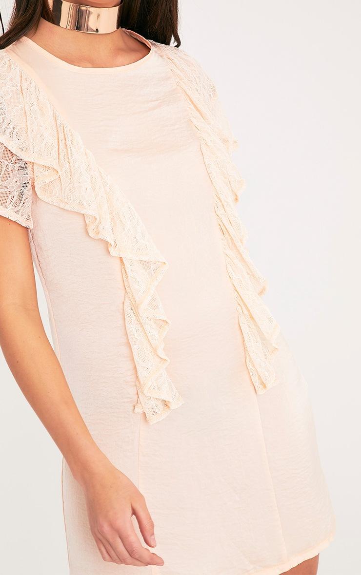 Melyssa Blush Lace Trim Shift Dress 6