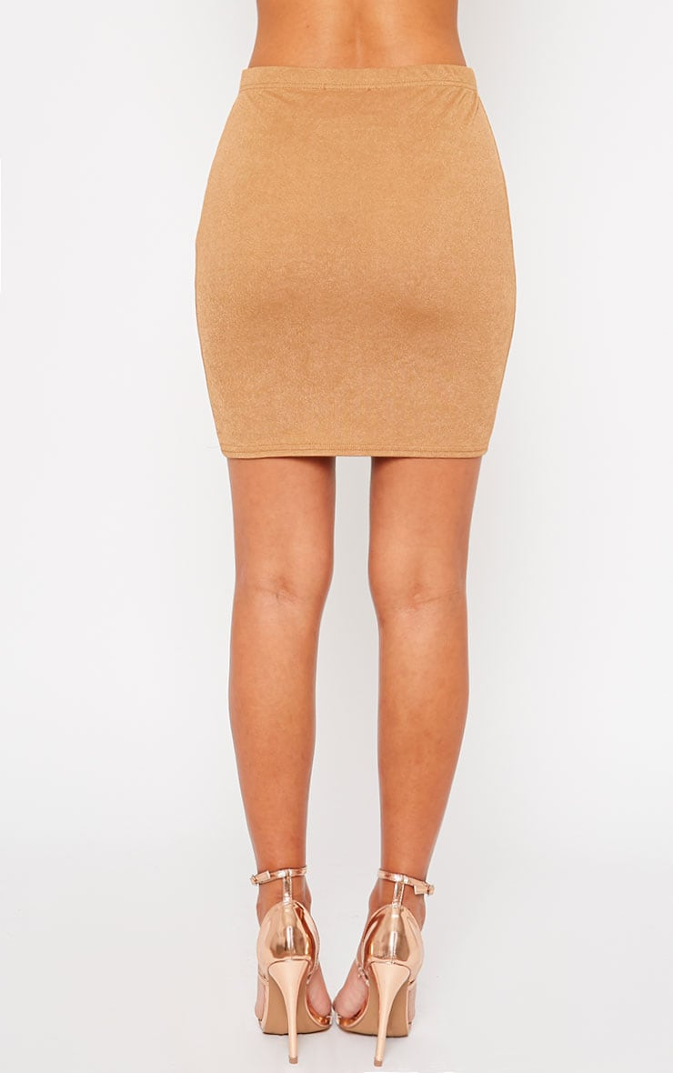 Emilia Camel Crepe Mini Skirt 4
