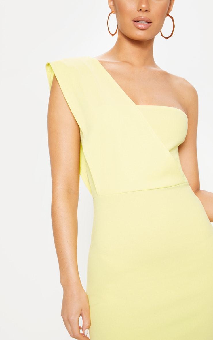 Light Lime One Shoulder Maxi Dress 5