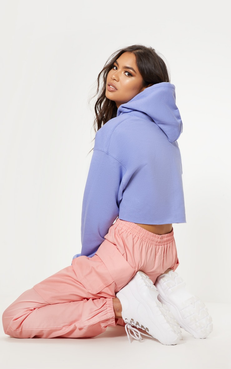 Lilac Ultimate Oversized Crop Hoodie 2