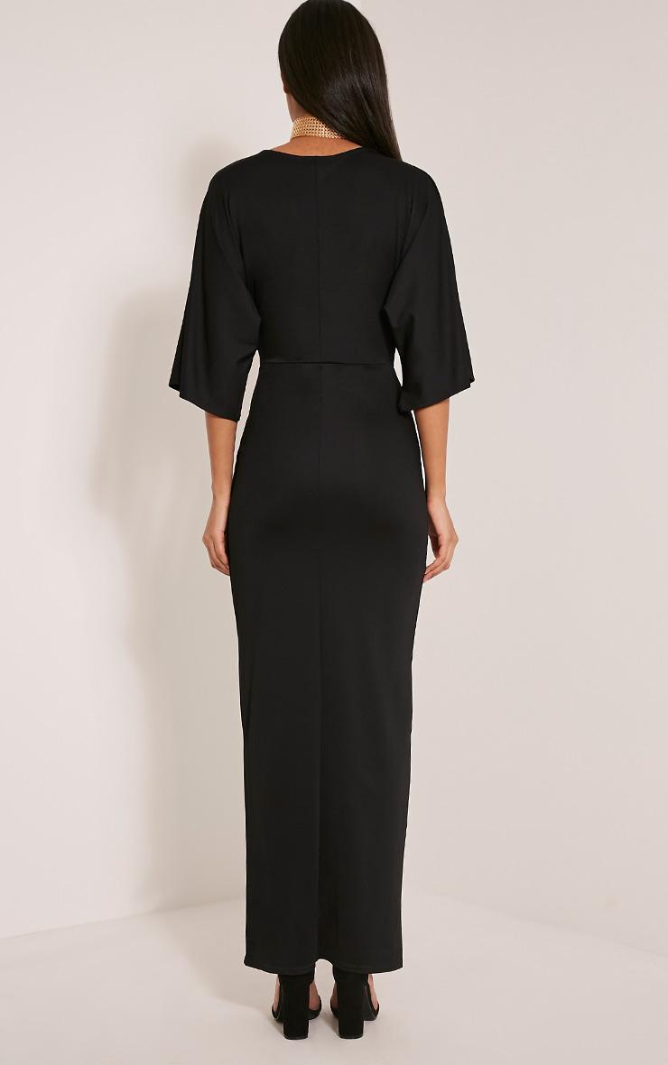 Archer robe maxi cape noire 2