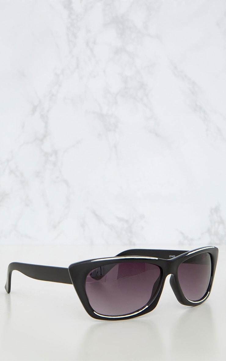 Black Wide Cat Eye Retro Sunglasses 4