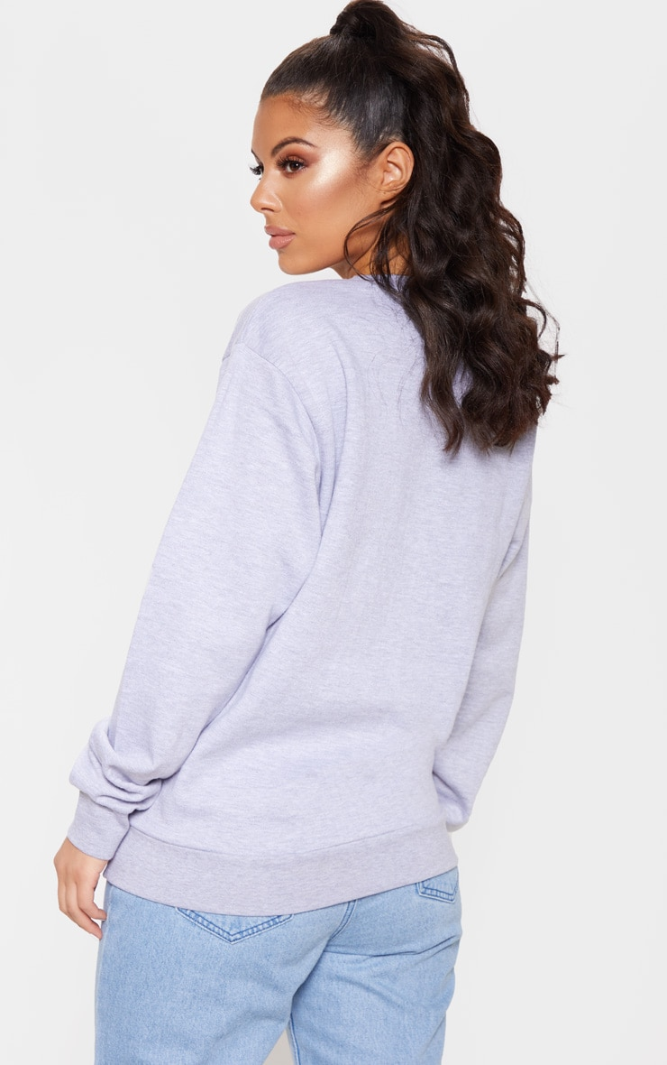 Sweat oversize gris imprimé Washington Olympia 2