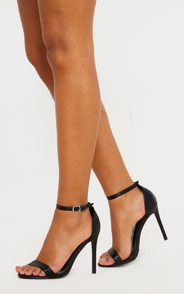 Black Clover Strappy Heeled Sandals 2
