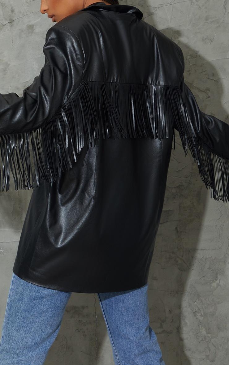 Black Tassle Back Jacket 4
