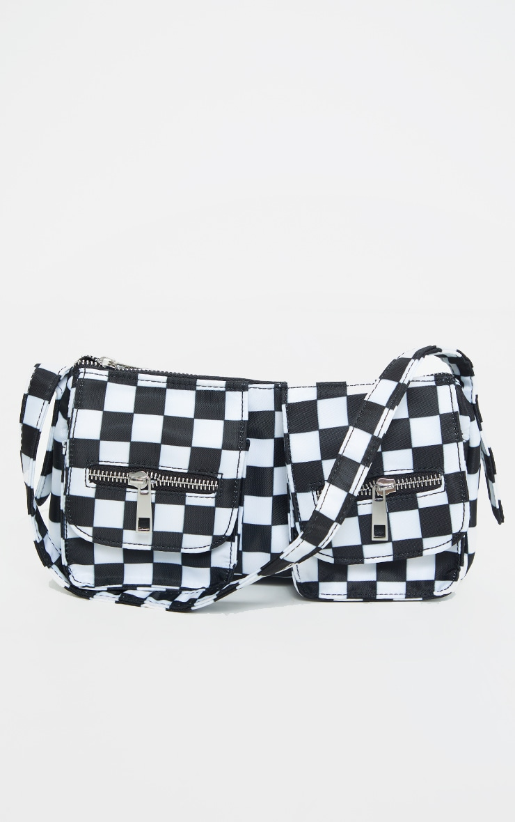 Black Checkerboard Shoulder Bag 2