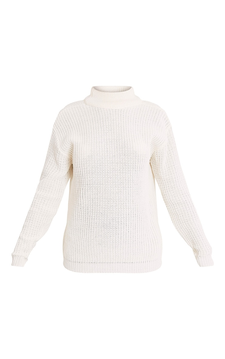 Shaewnette Cream Cut Out Back Knitted Jumper 3