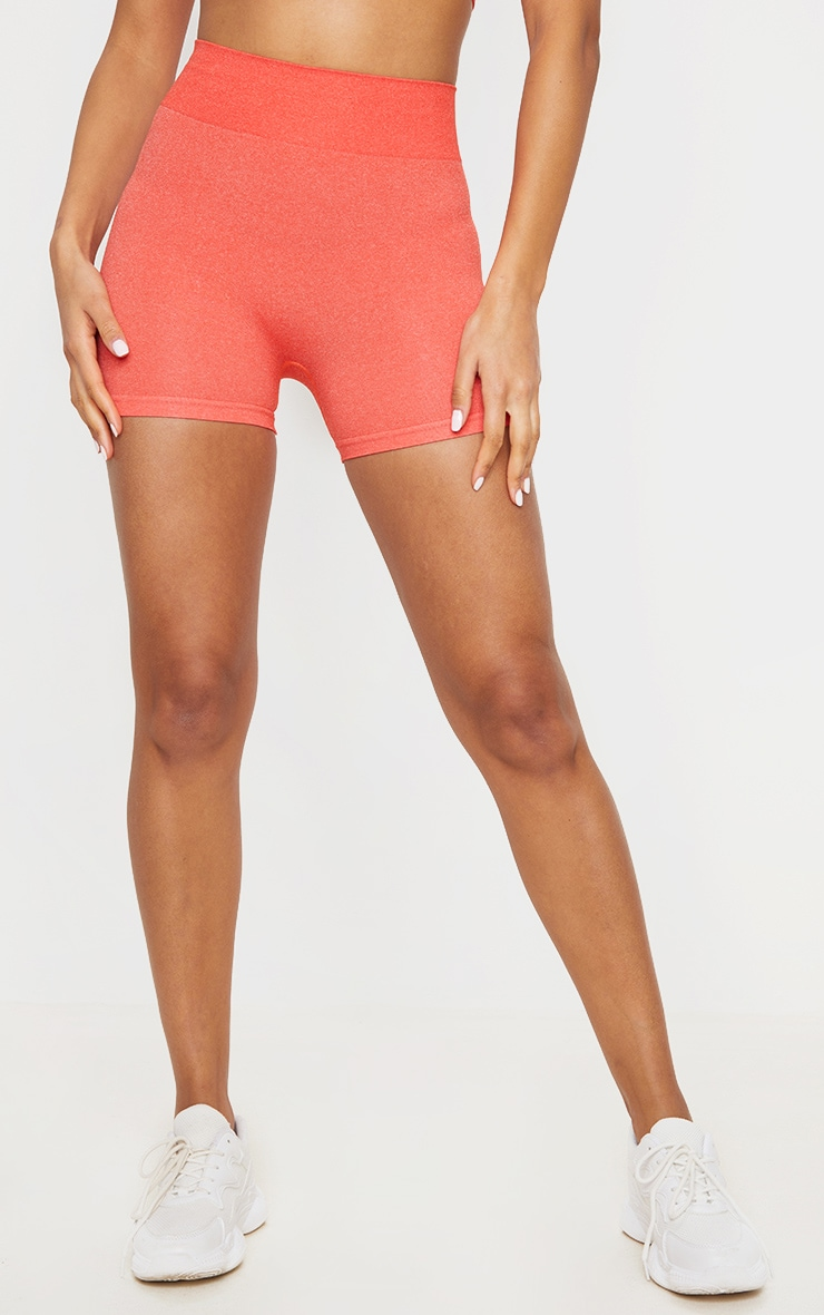 Coral Seamless Contour Booty Shorts 2