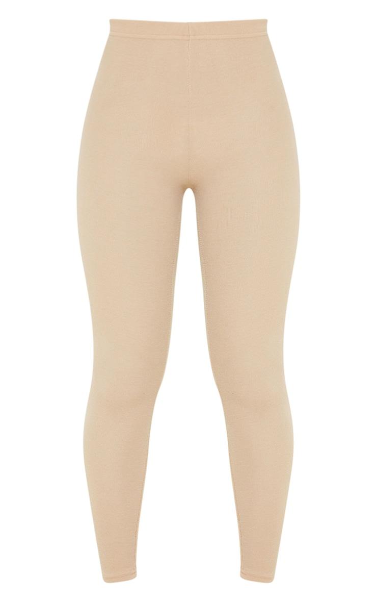 Light Brown Crinkle Rib Leggings 5