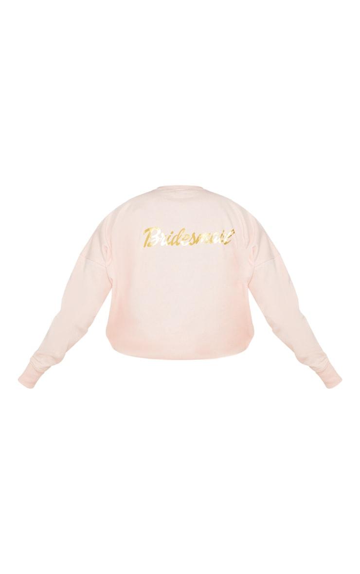 Blush Bridesmaid Slogan Sweater 4