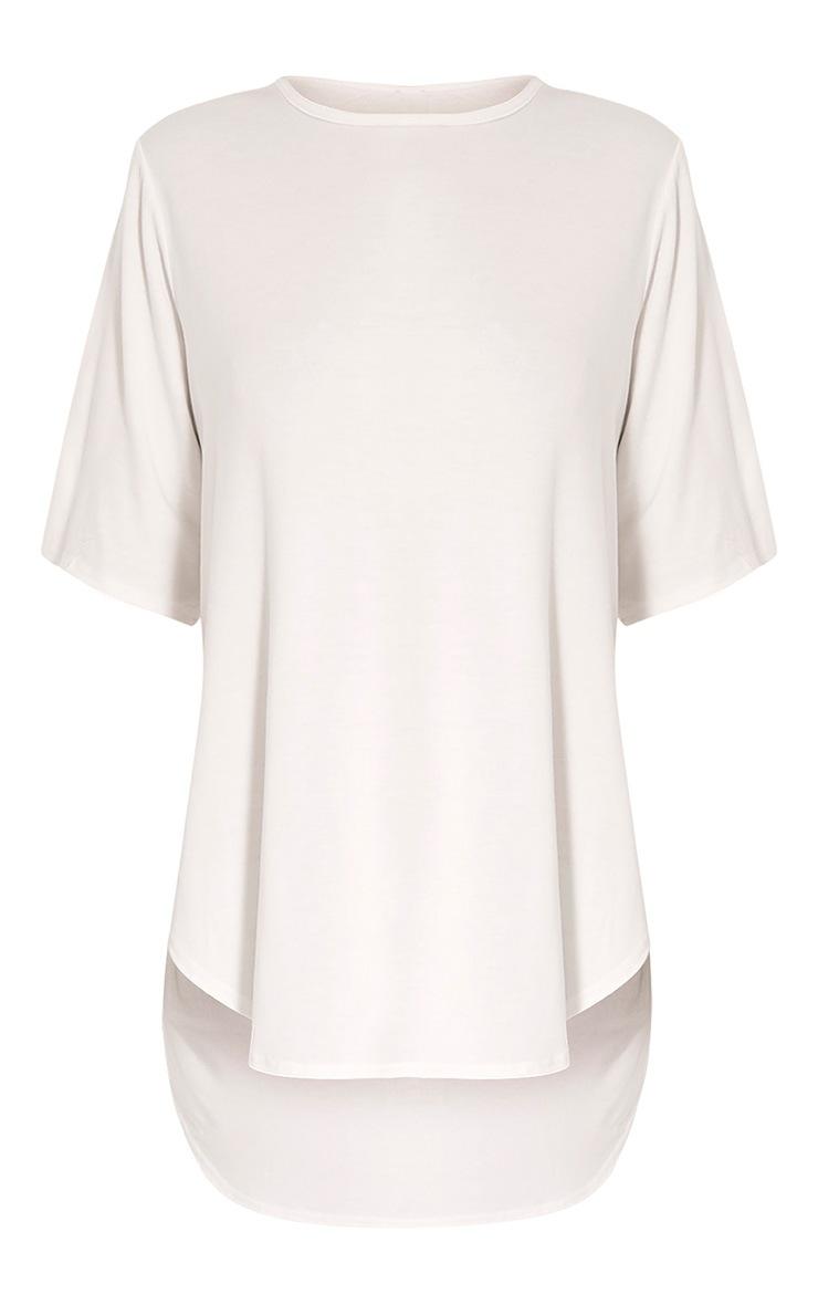 Ashby Cream Strap Back Jersey T Shirt 3