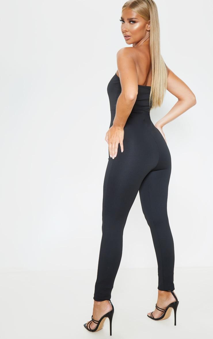 Black One Shoulder Sleeveless Jumpsuit 2