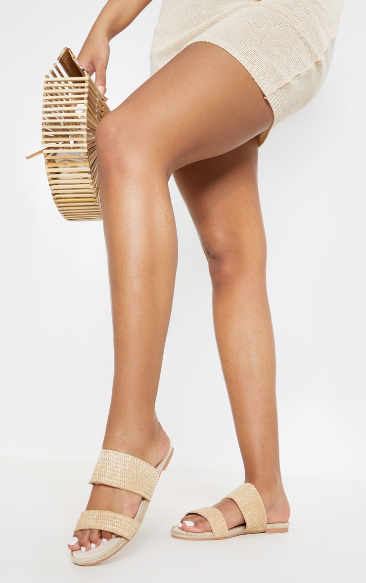 Natural Cross Strap Espadrille Sandal 1