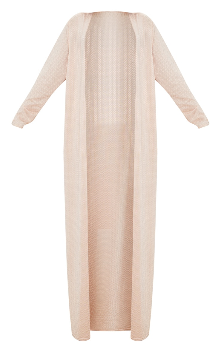 Shape Champagne Textured Duster Coat 3