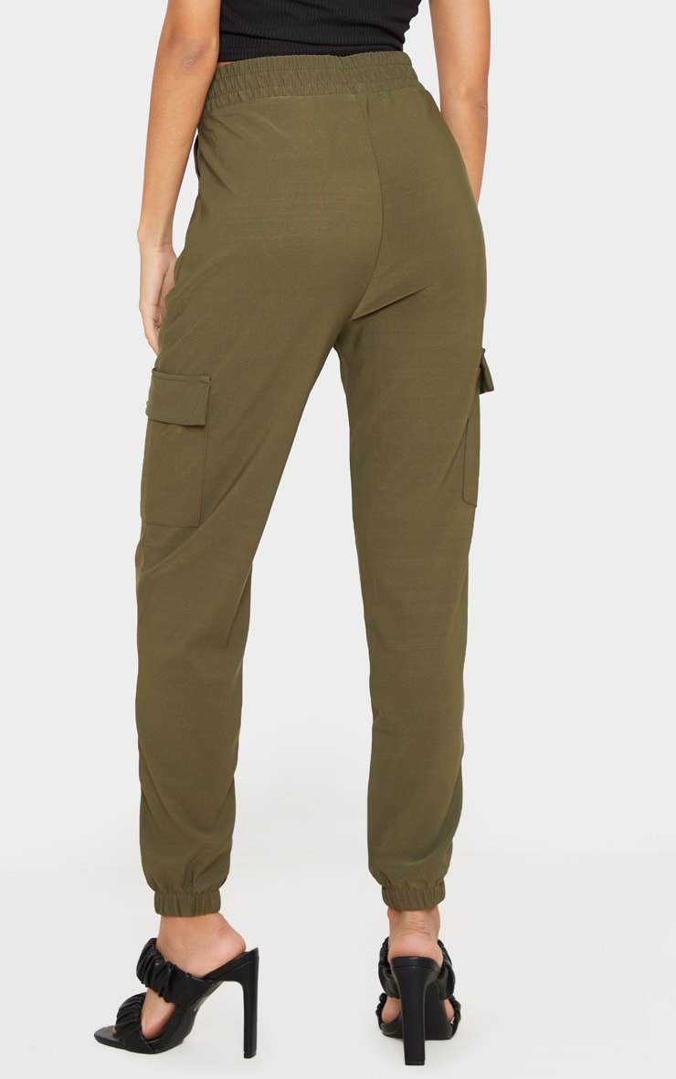 Khaki Cargo Pocket Pants 3