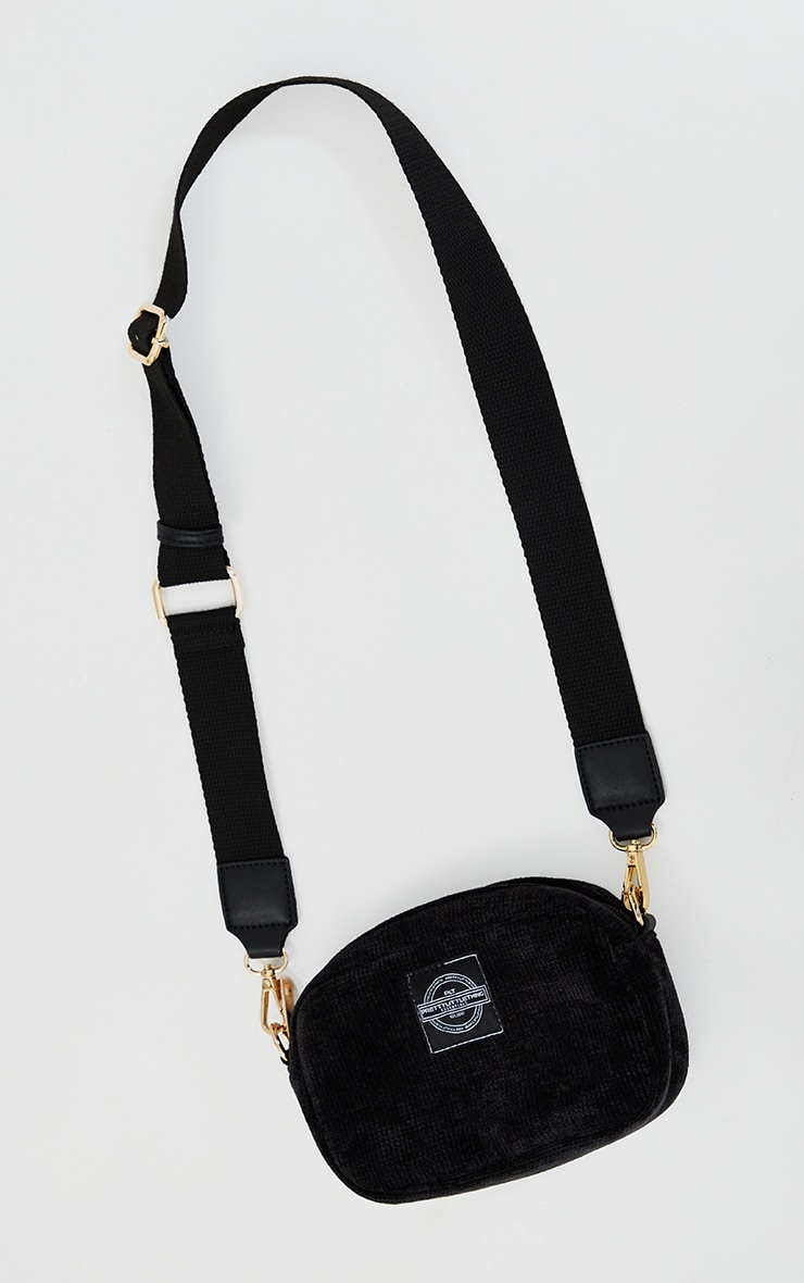 PRETTYLITTLETHING Black Cord Mini Cross Body Bag 2
