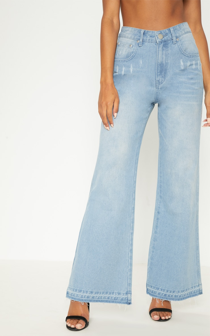 Light Wash Wide Leg Jean  2