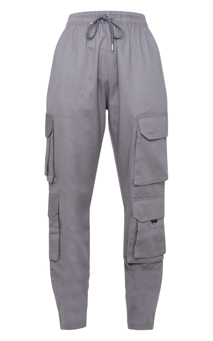 Grey Twill Oversized Utility Pants 3