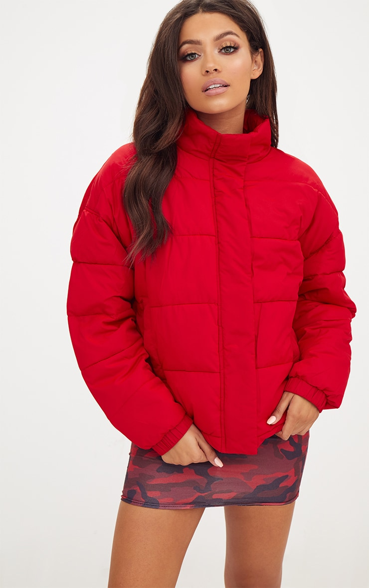 Red Puffer Jacket 1