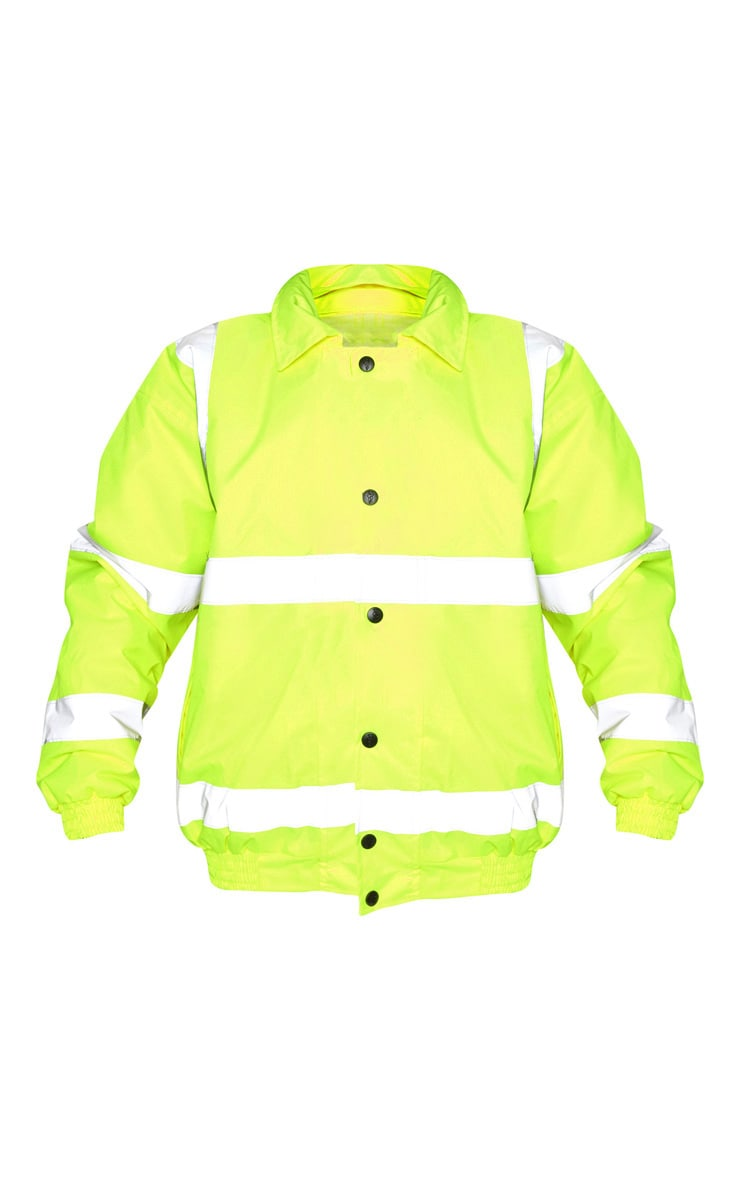 Neon Yellow High Vis Coat 3