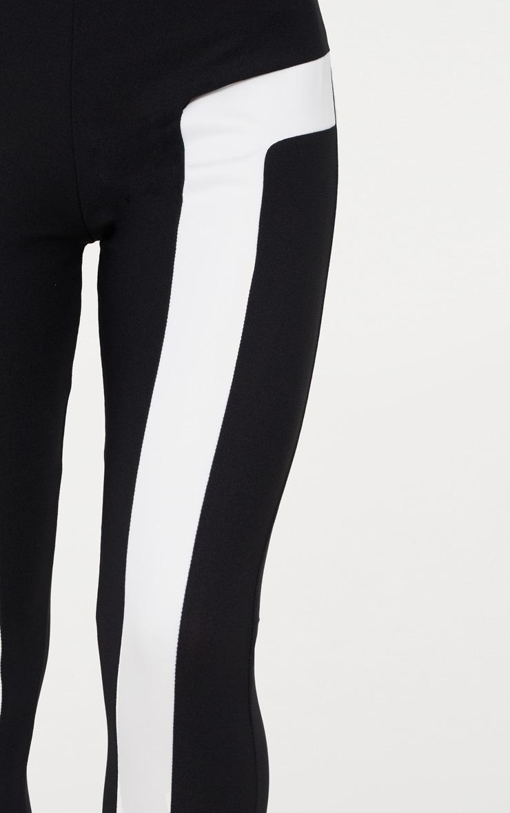 Black Contrast Panel Legging 4