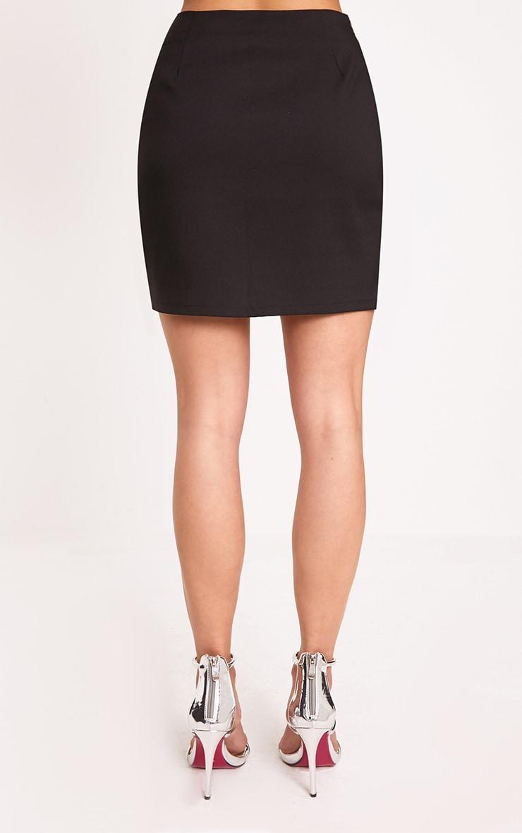 Calista Black Diamond Split Mini Skirt 5