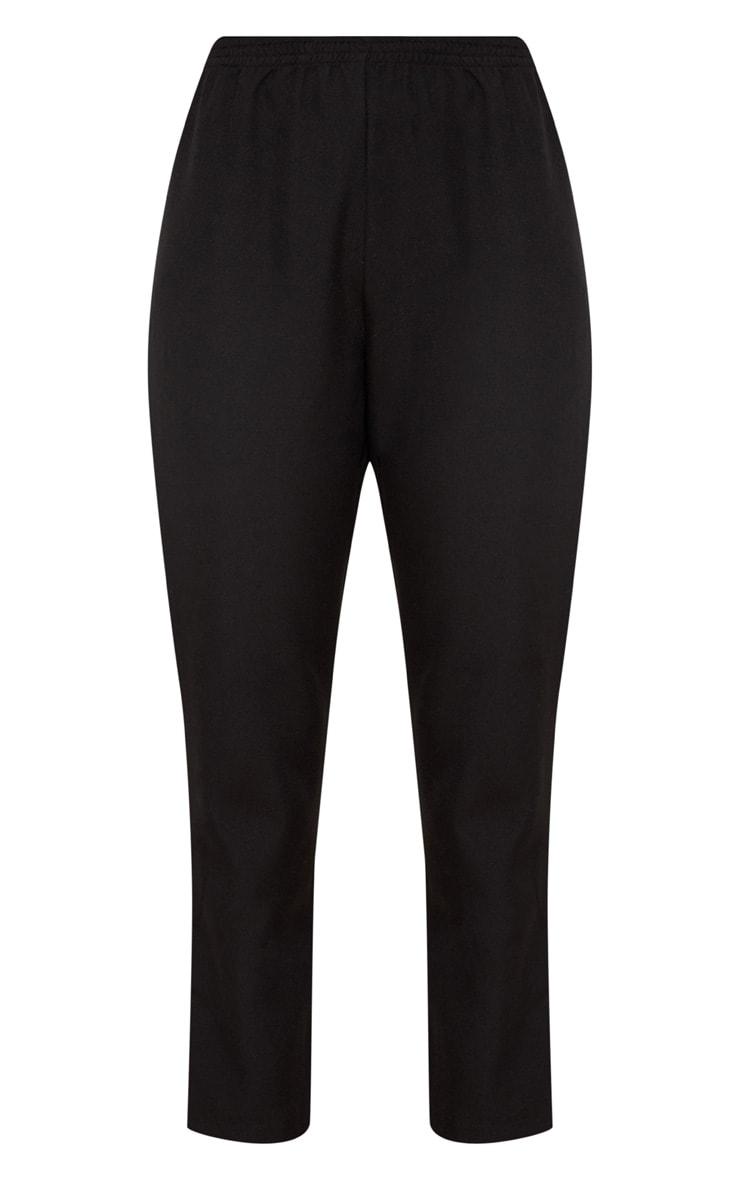 Black Tailored Side Stripe Cigarette Pants 3