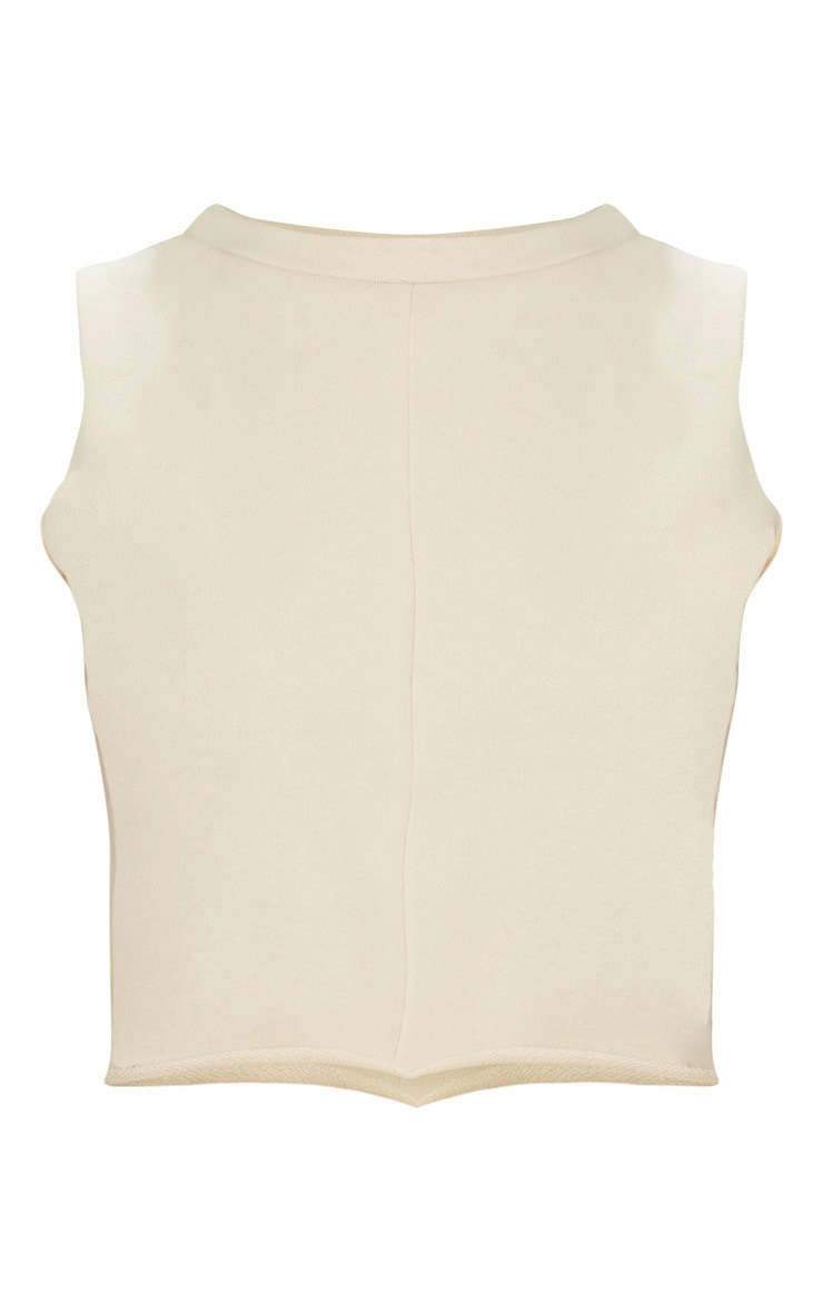 Cream Crop Tank Sweater 3