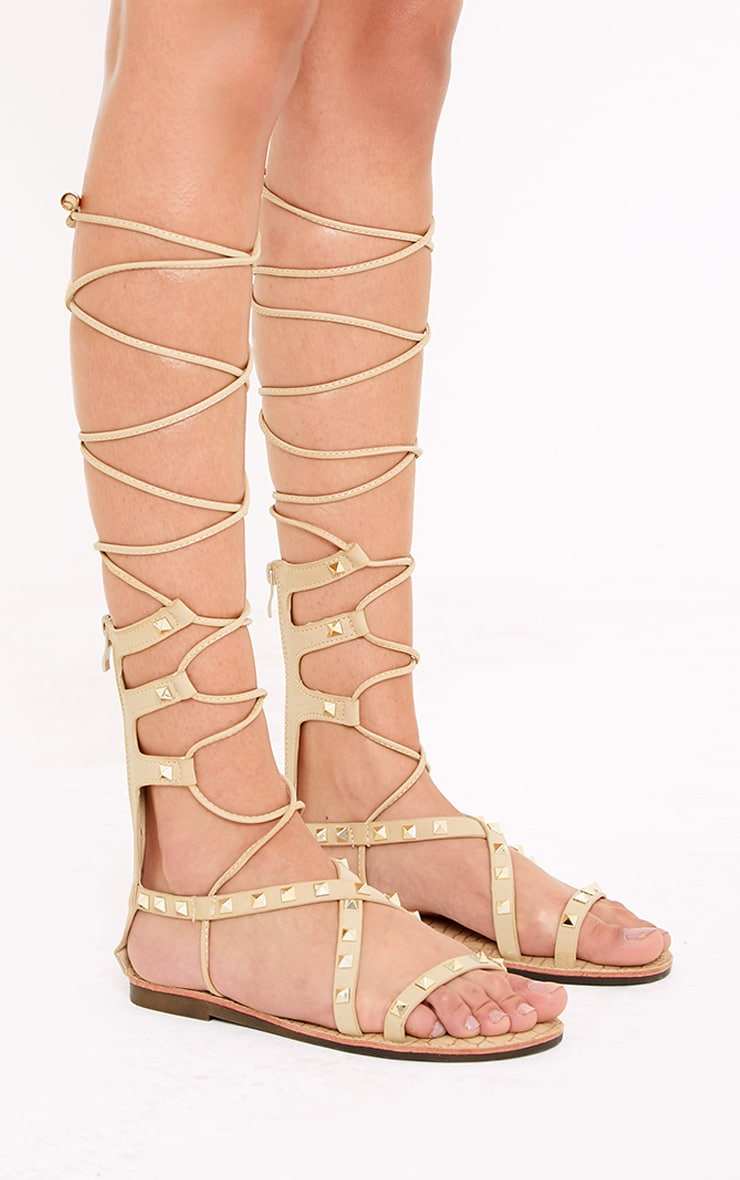 Pippy Stone Studded Gladiator Sandals 3