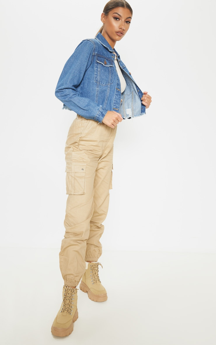 Tall Mid Wash Cropped Denim Jacket 4
