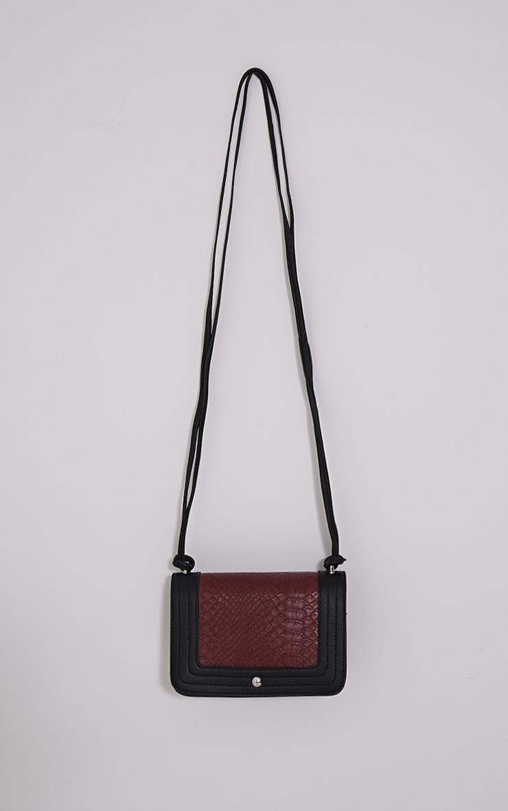 Jaya Burgundy Strap Shoulder Bag 2