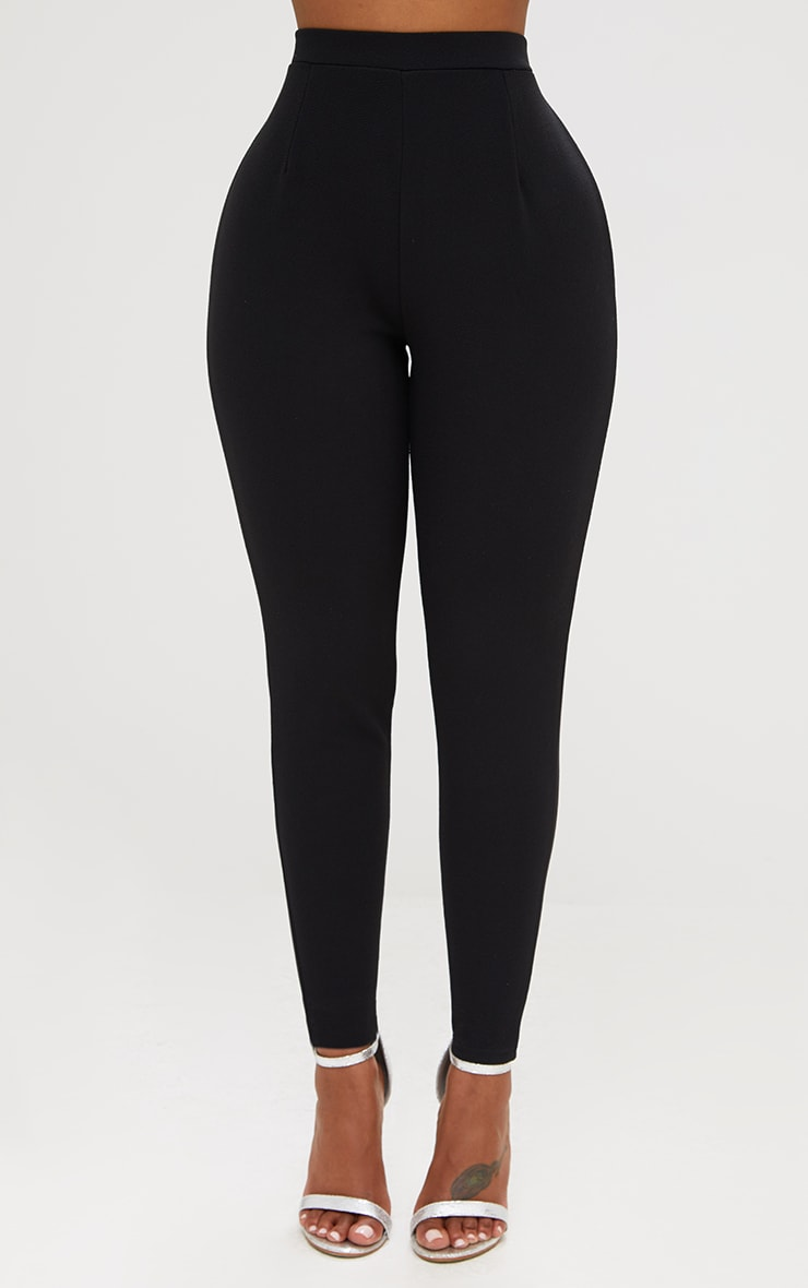 Shape Black Fitted Trousers 2
