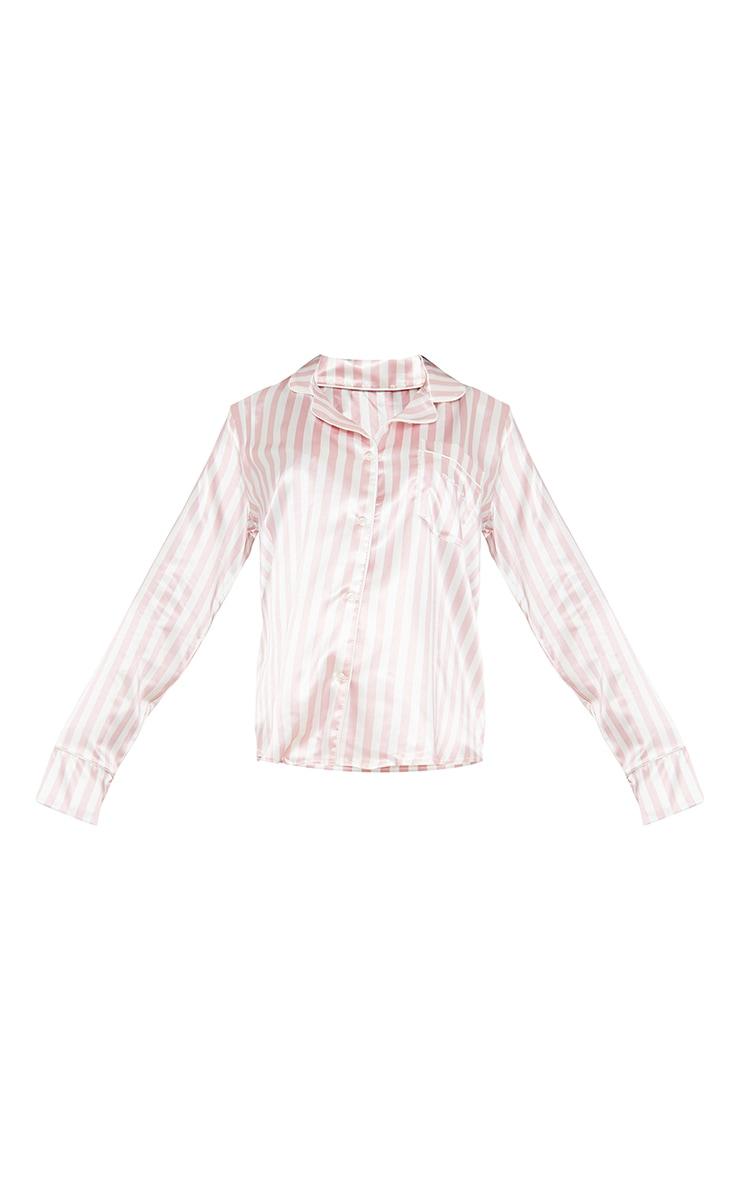 Maternity Pink Stripe Mama Long Sleeve PJ Top 5
