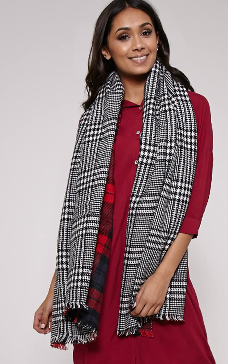 Georgey Multi Check Oversized Scarf 1