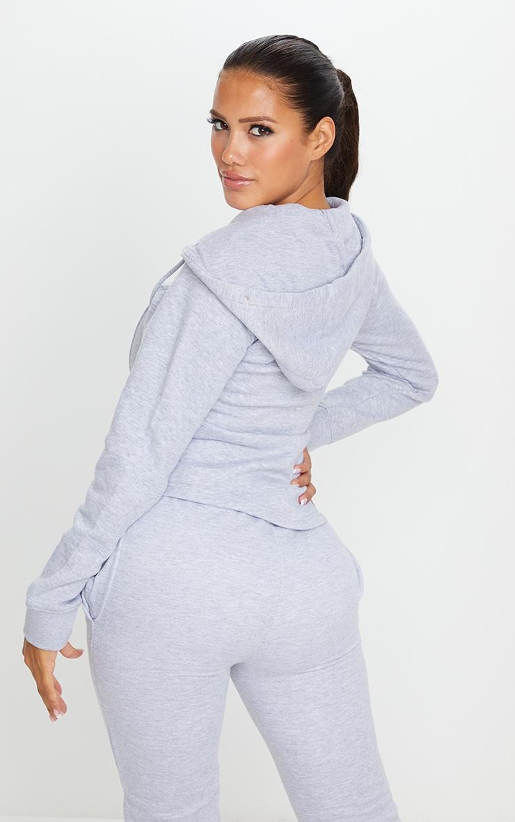Shape Grey Corset Detail Zip Up Hoodie 2