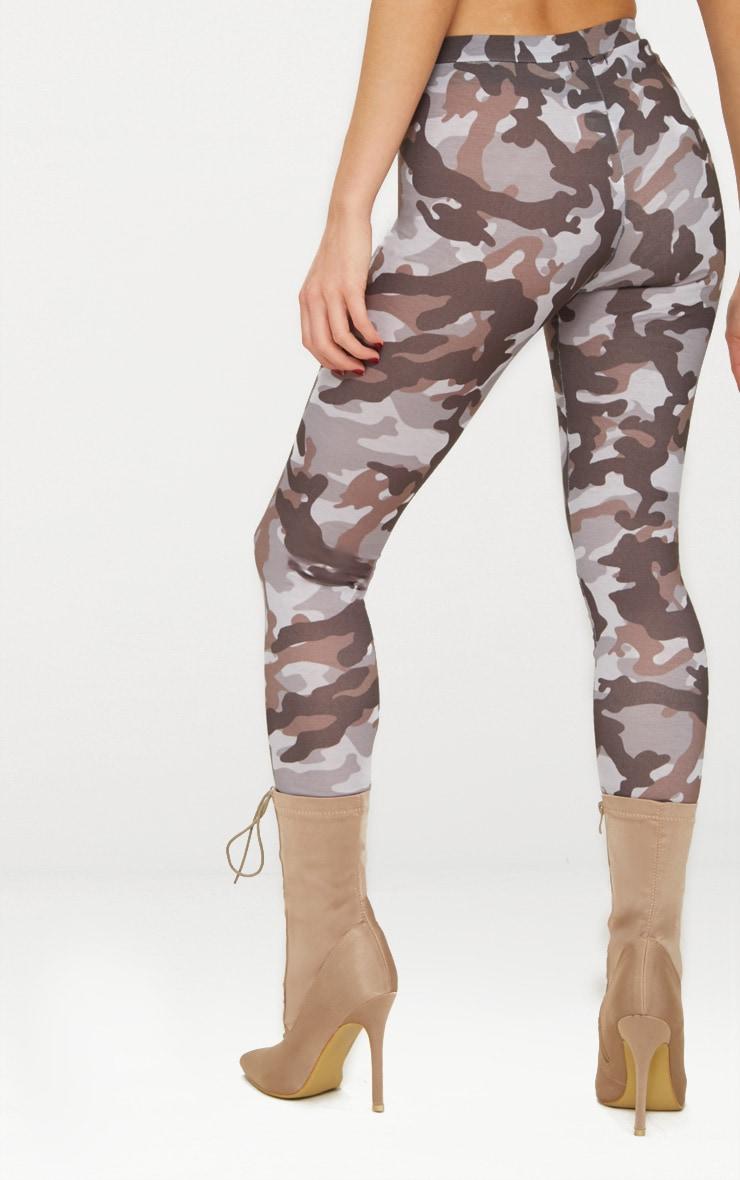 Grey Camo Print Leggings 4